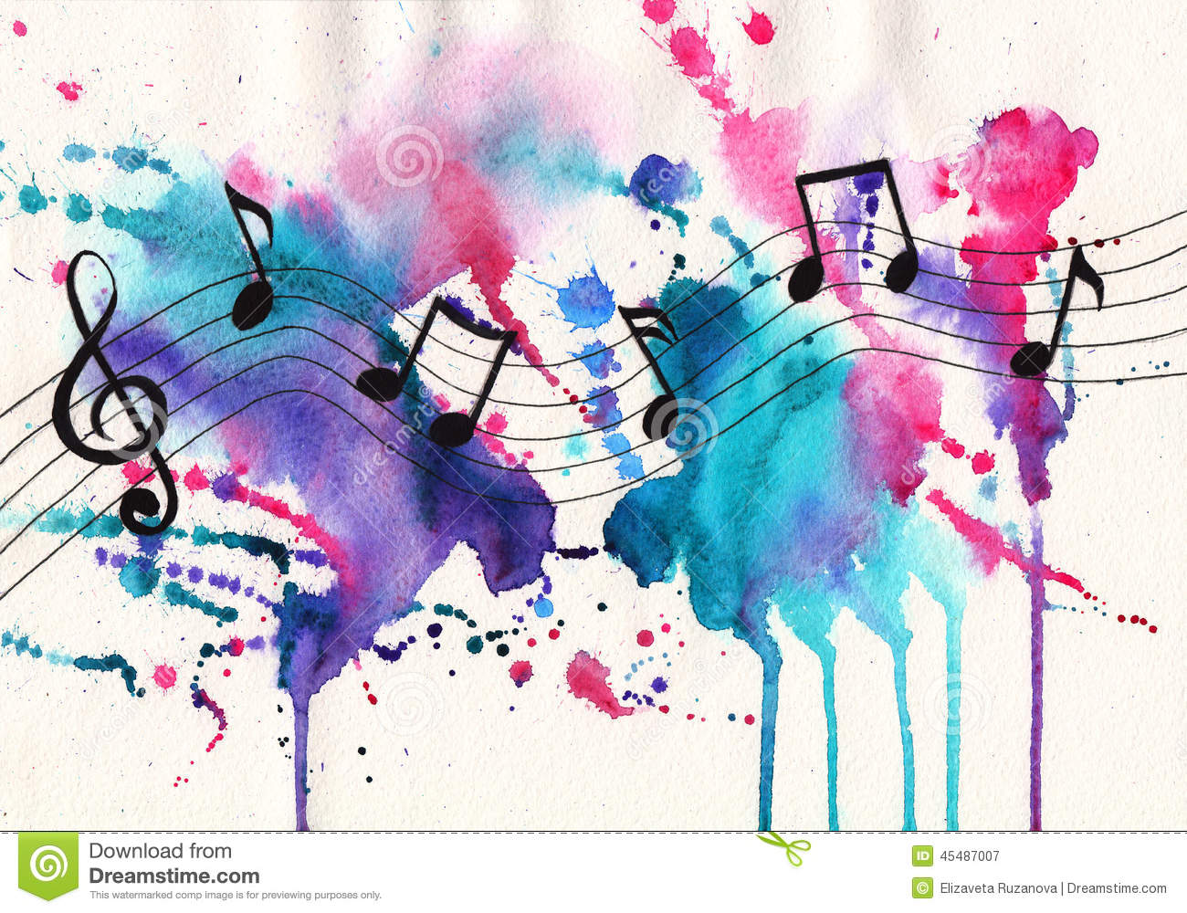 Watercolor Notes Stock Illustration Image 45487007