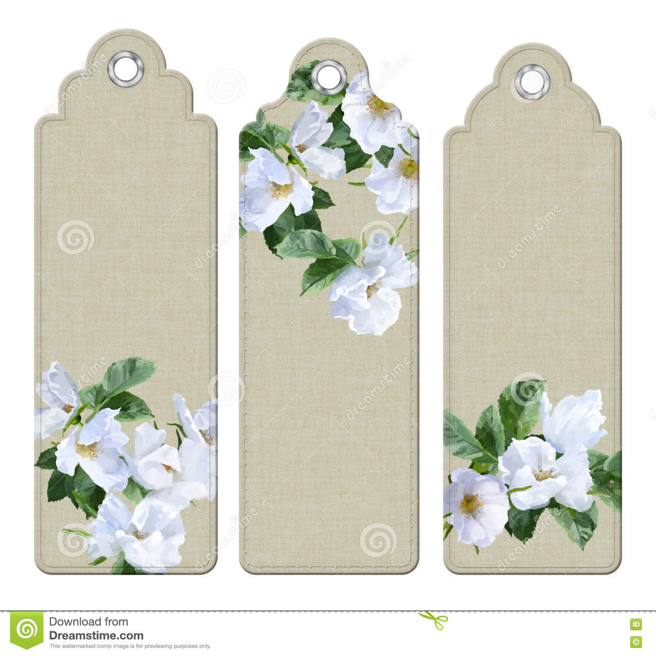 flower tags template free - watercolor painting flowers bookmark stock illustration