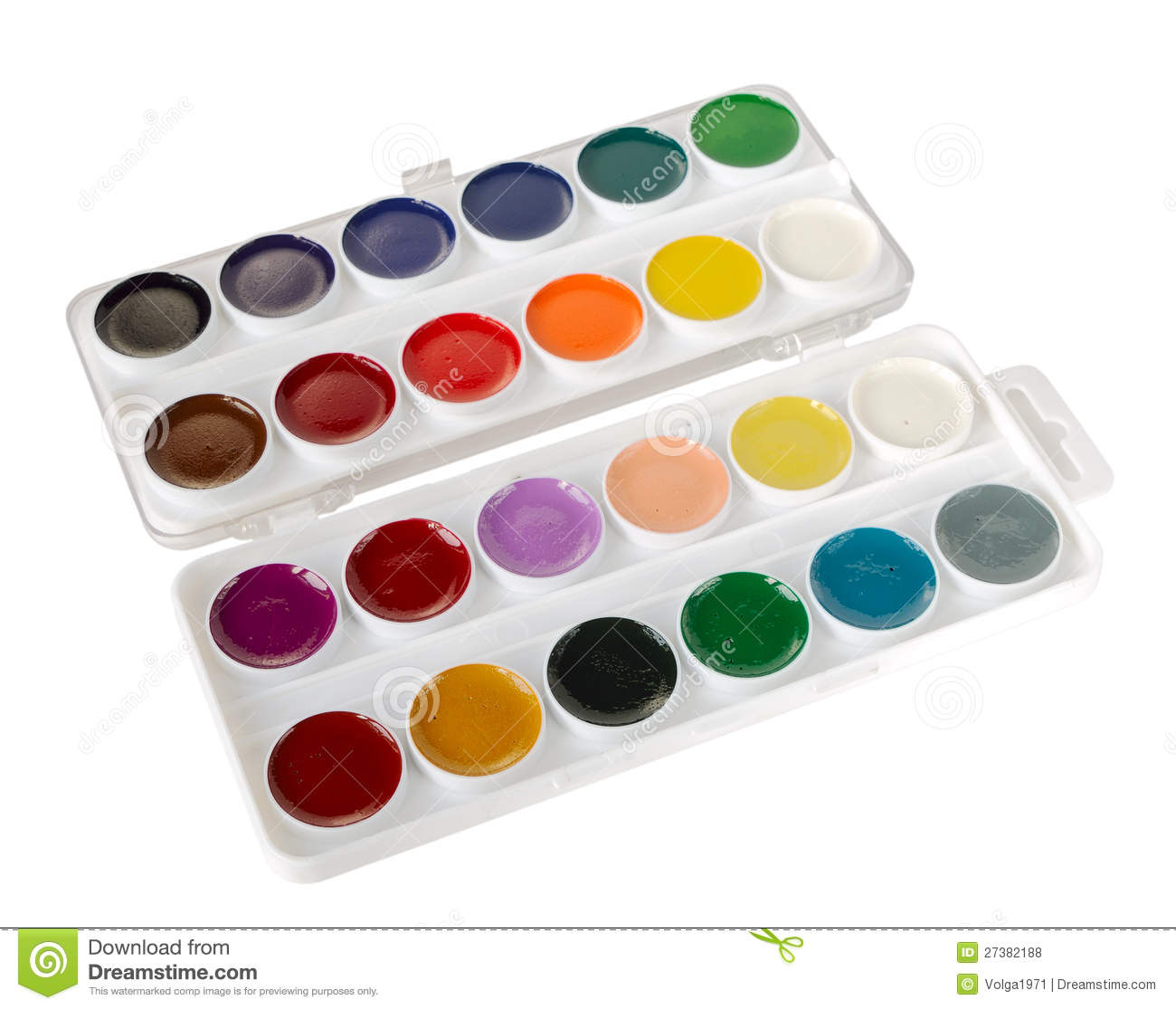 Watercolor Paints Royalty Free Stock Photos Image 27382188