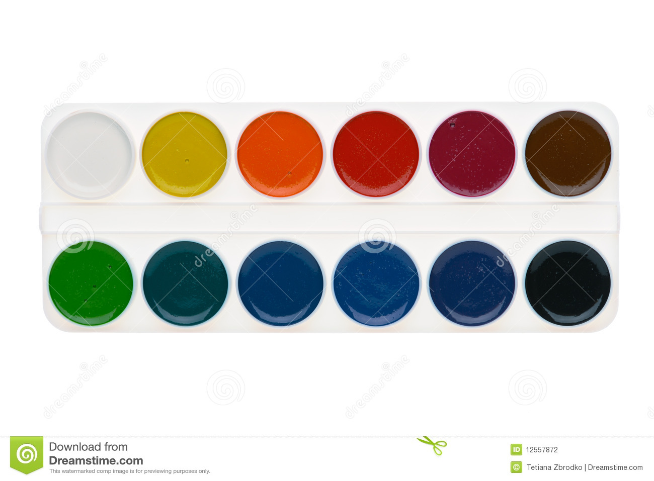 watercolor paints palette stock photography image 12557872. Black Bedroom Furniture Sets. Home Design Ideas