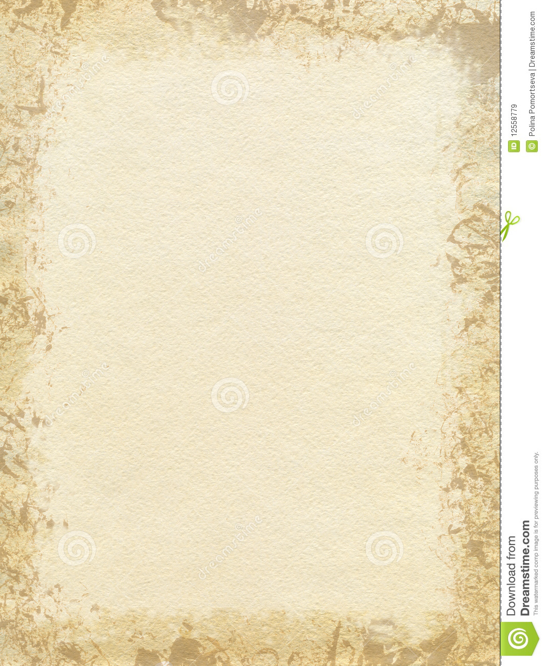 Abstract Brush With Cream Paper Texture Background Stock