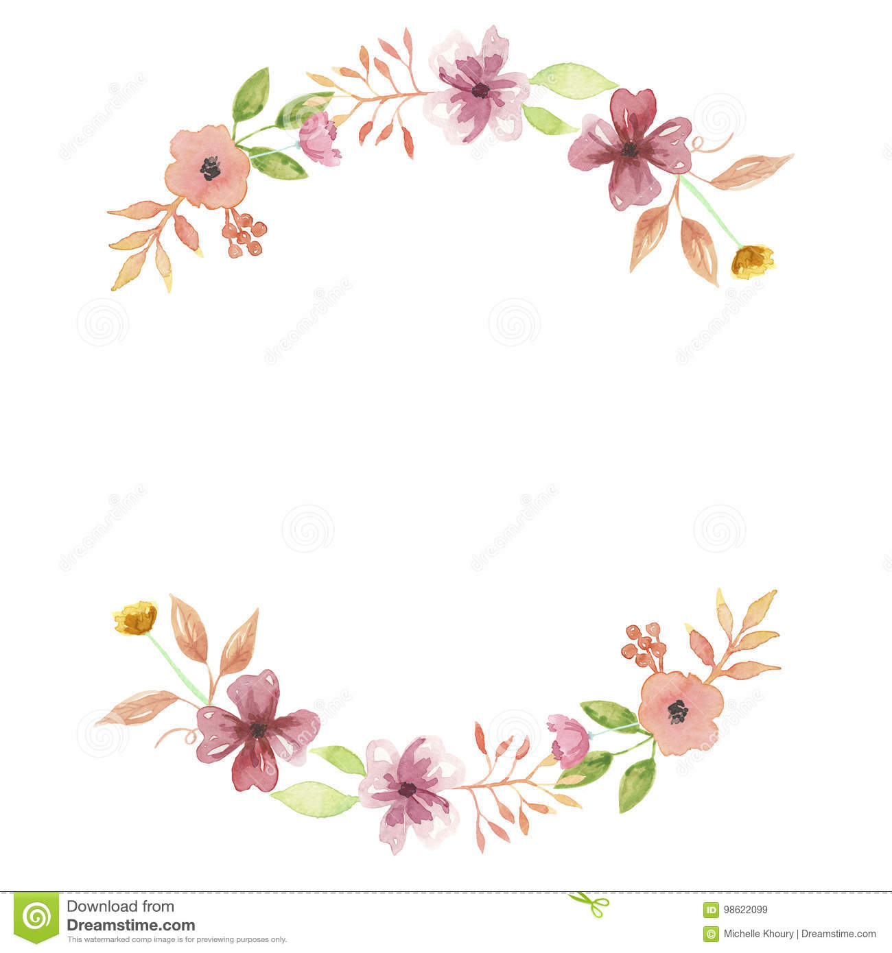 Watercolor Peach Summer Wreath Arch Mustard Garland ...