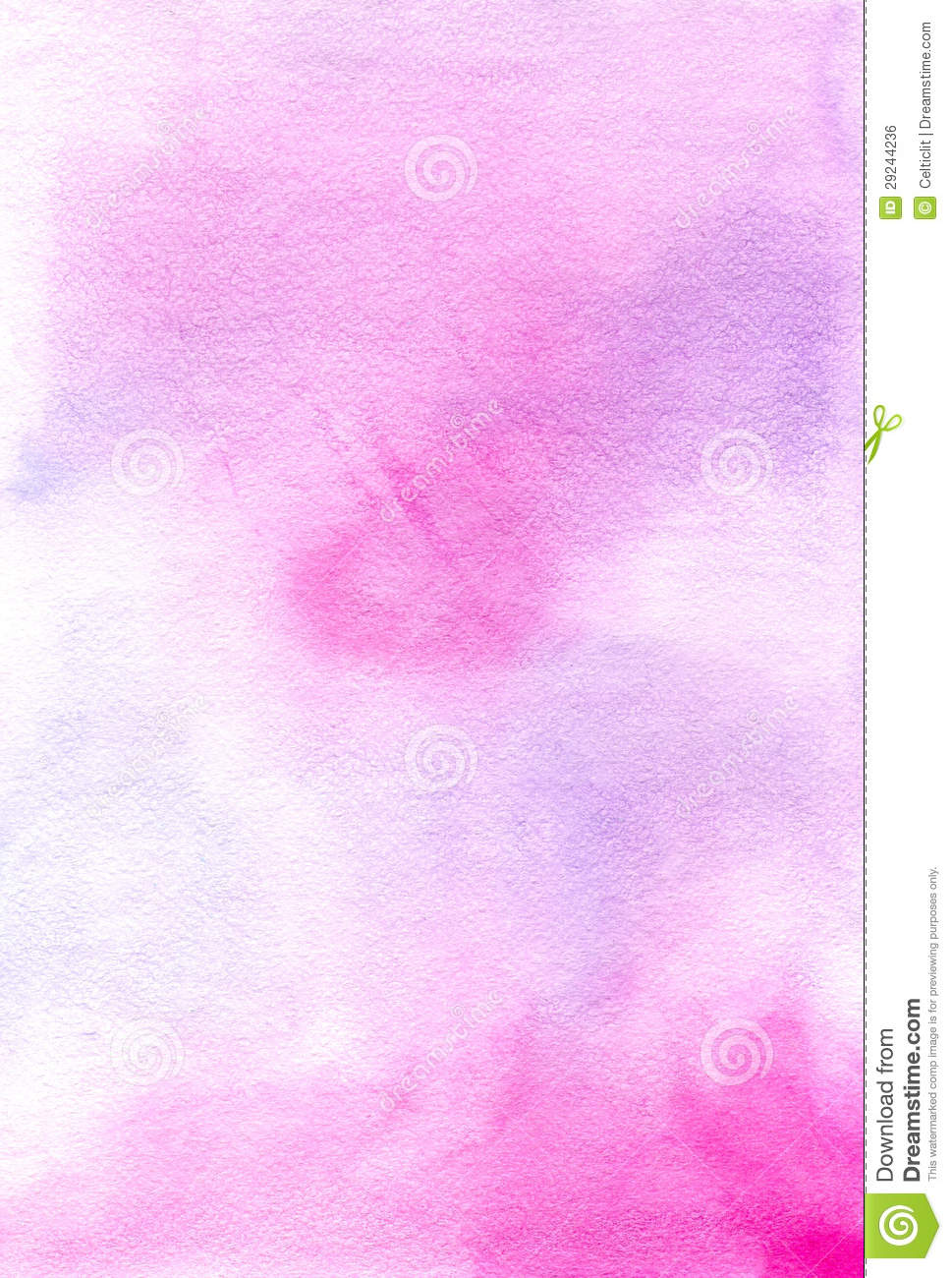 Watercolor pink hand painted background