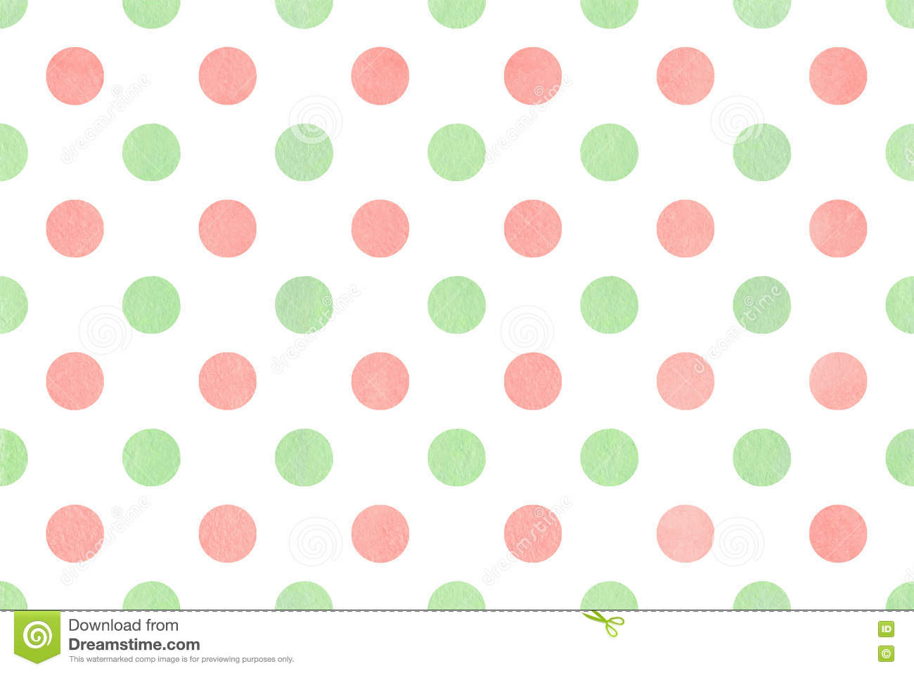 Watercolor Polka Dot Background. Stock Illustration