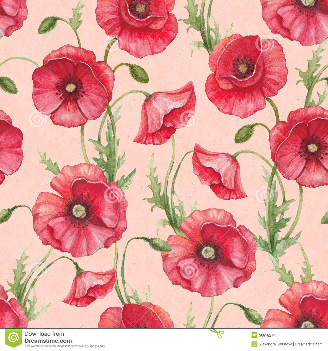watercolor poppy flowers stock images image 30818274 art deco geometric pattern vector art deco patterns free vector download