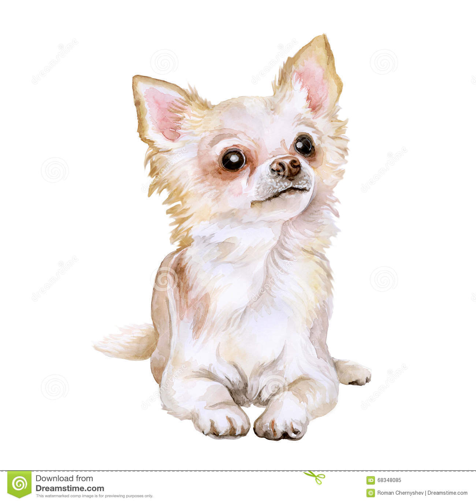 Black Dog Watercolor Chihuhu