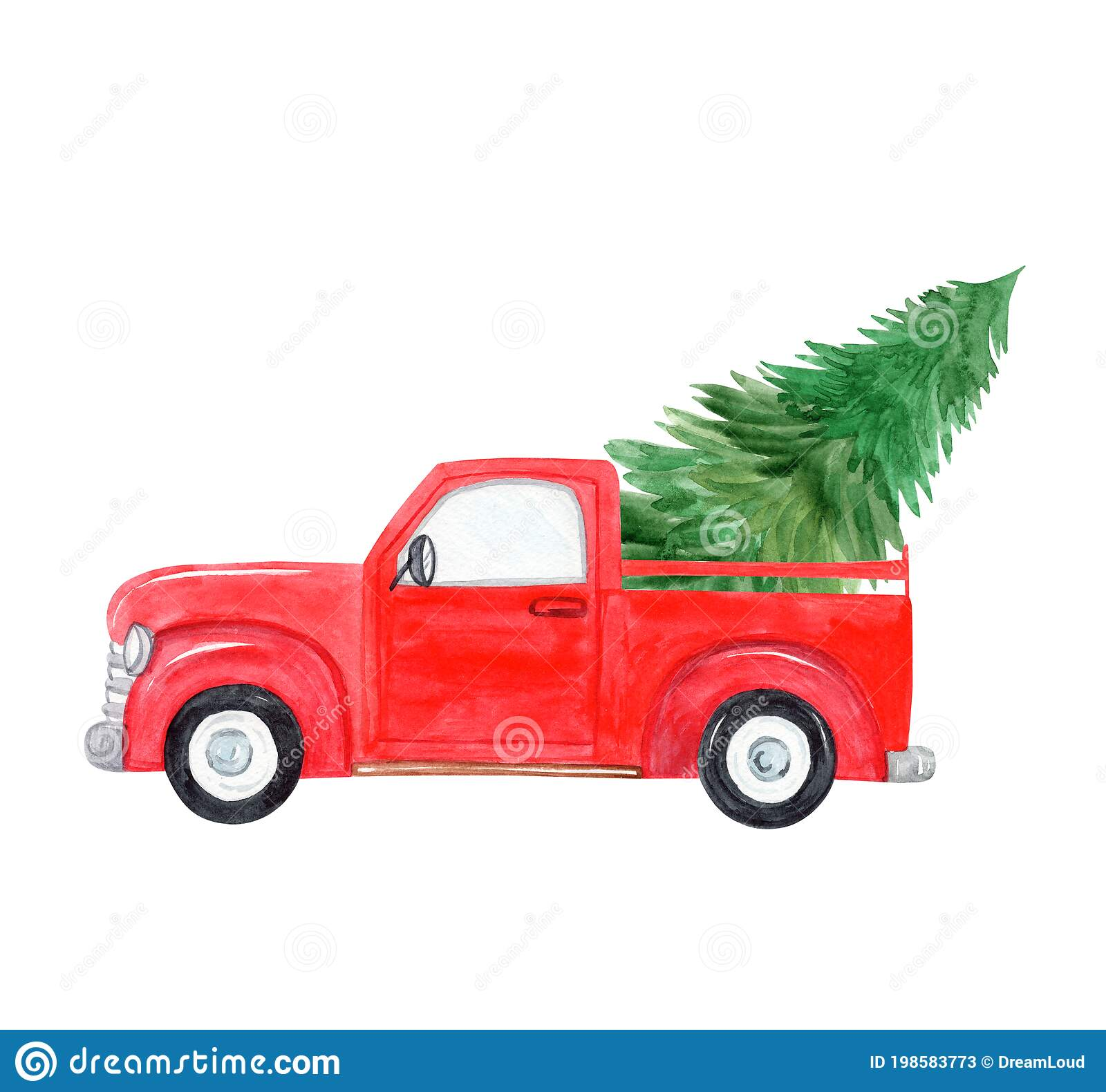 Red Truck Christmas Tree Stock Illustrations 845 Red Truck Christmas Tree Stock Illustrations Vectors Clipart Dreamstime