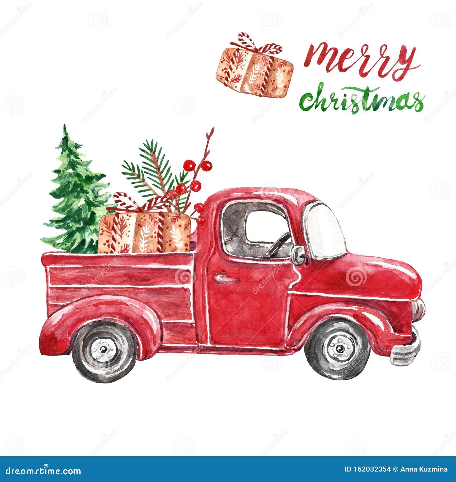 Christmas Truck Stock Illustrations 3 052 Christmas Truck Stock Illustrations Vectors Clipart Dreamstime