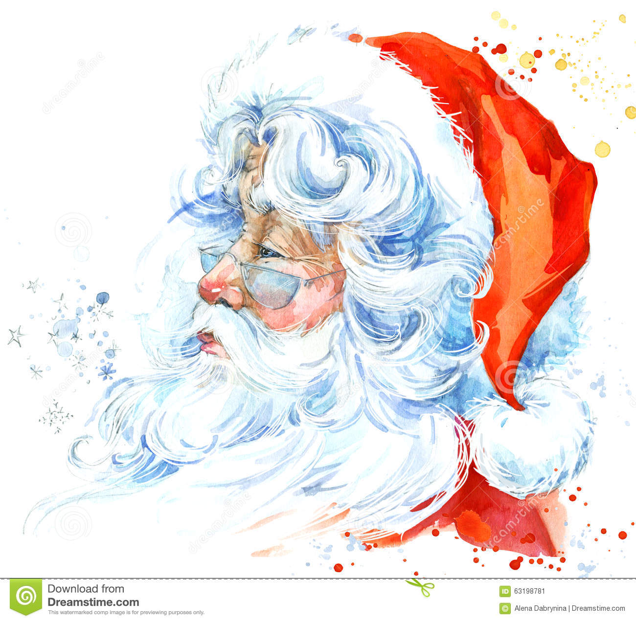 Watercolor santa claus santa claus christmas background new year watercolor santa claus santa claus christmas background new year background jeuxipadfo Choice Image