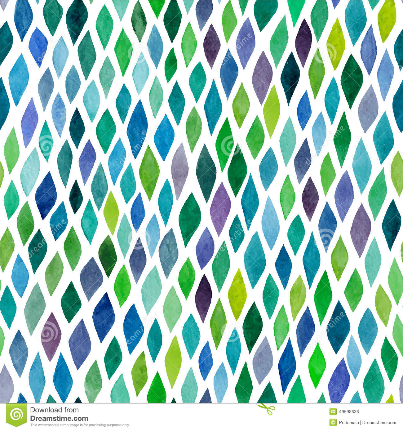 Watercolor seamless abstract hand-drawn pattern, endless modern