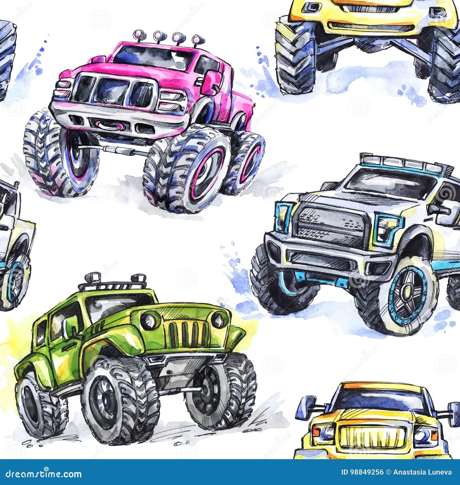 Monster Truck Ausmalbild: Monster Energy Malvorlagen