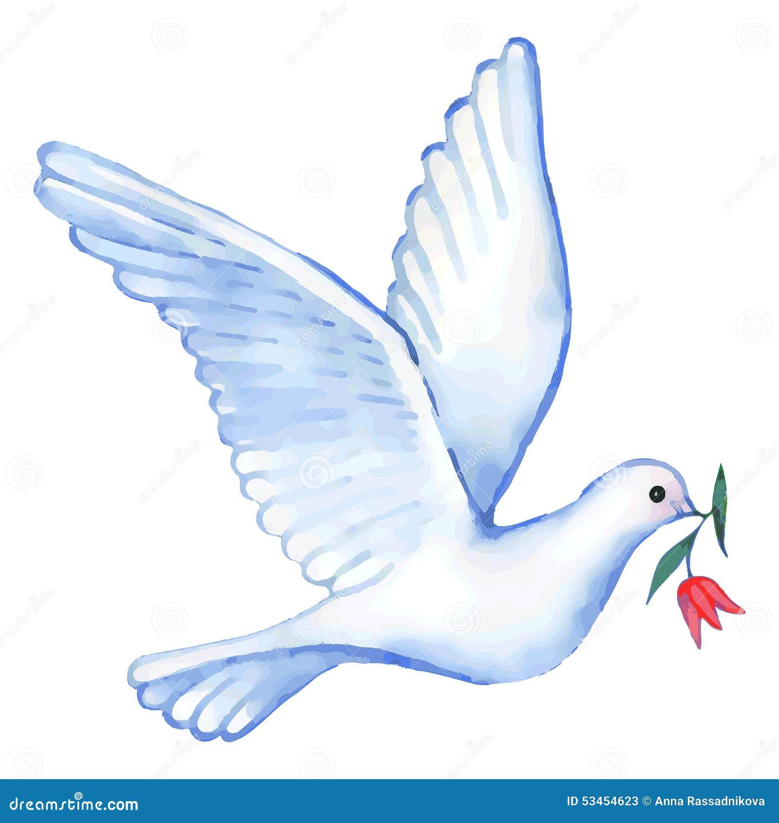 watercolor soaring dove  vector illustration stock vector peace sign vector transparent peace sign vector file