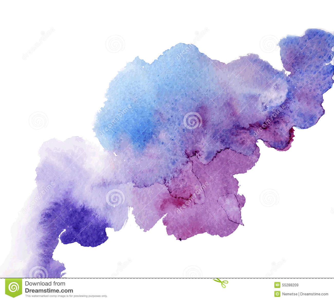 Watercolor splash a nice spot on the wet stock vector - Peinture couleur pastel ...
