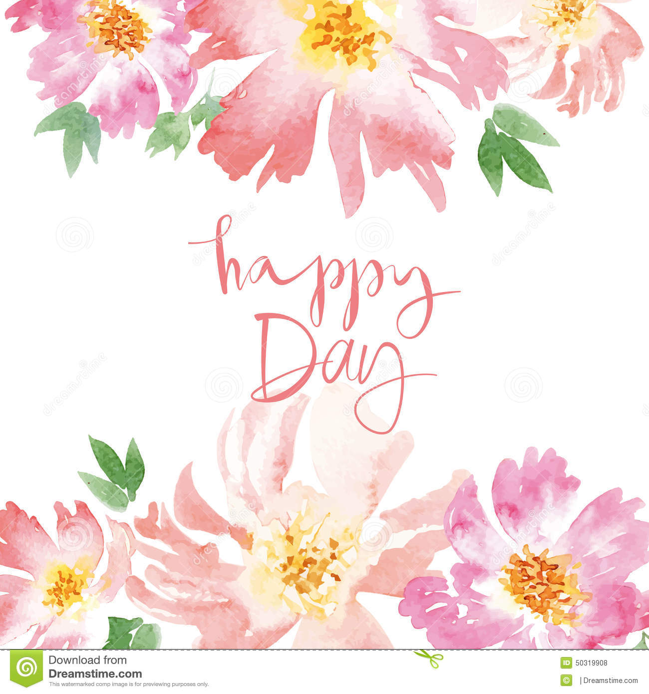 Watercolor spring flowers stock vector image 50319908 for Spring flowers watercolor
