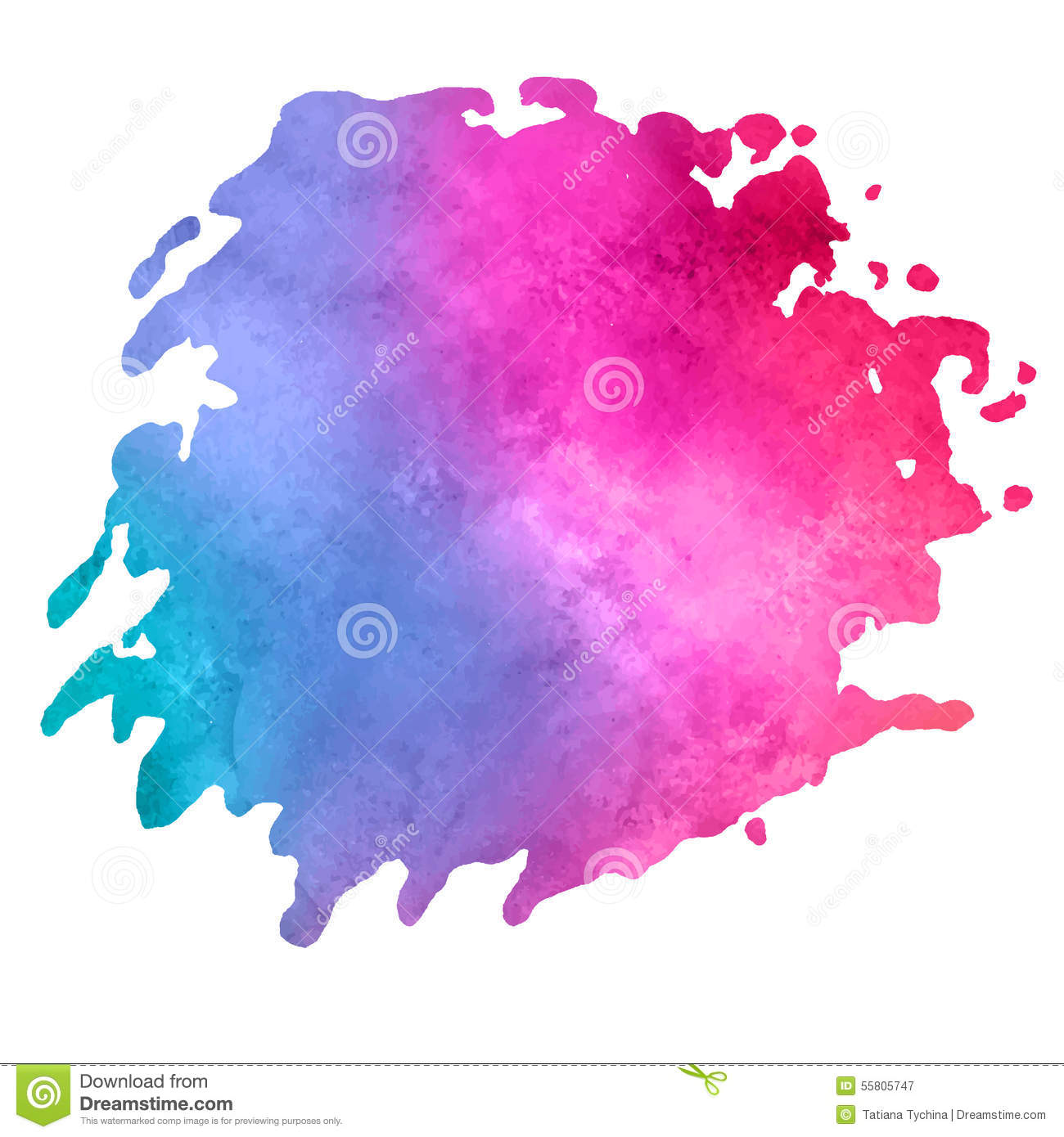 watercolor stain with aquarelle paint blotch stock vector illustration of brush smudge 55805747. Black Bedroom Furniture Sets. Home Design Ideas