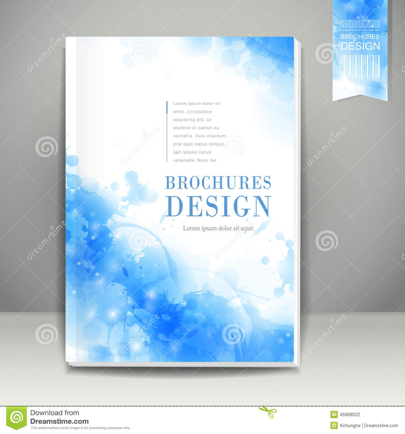 Book Cover Template Paint ~ Watercolor style background design for book cover stock