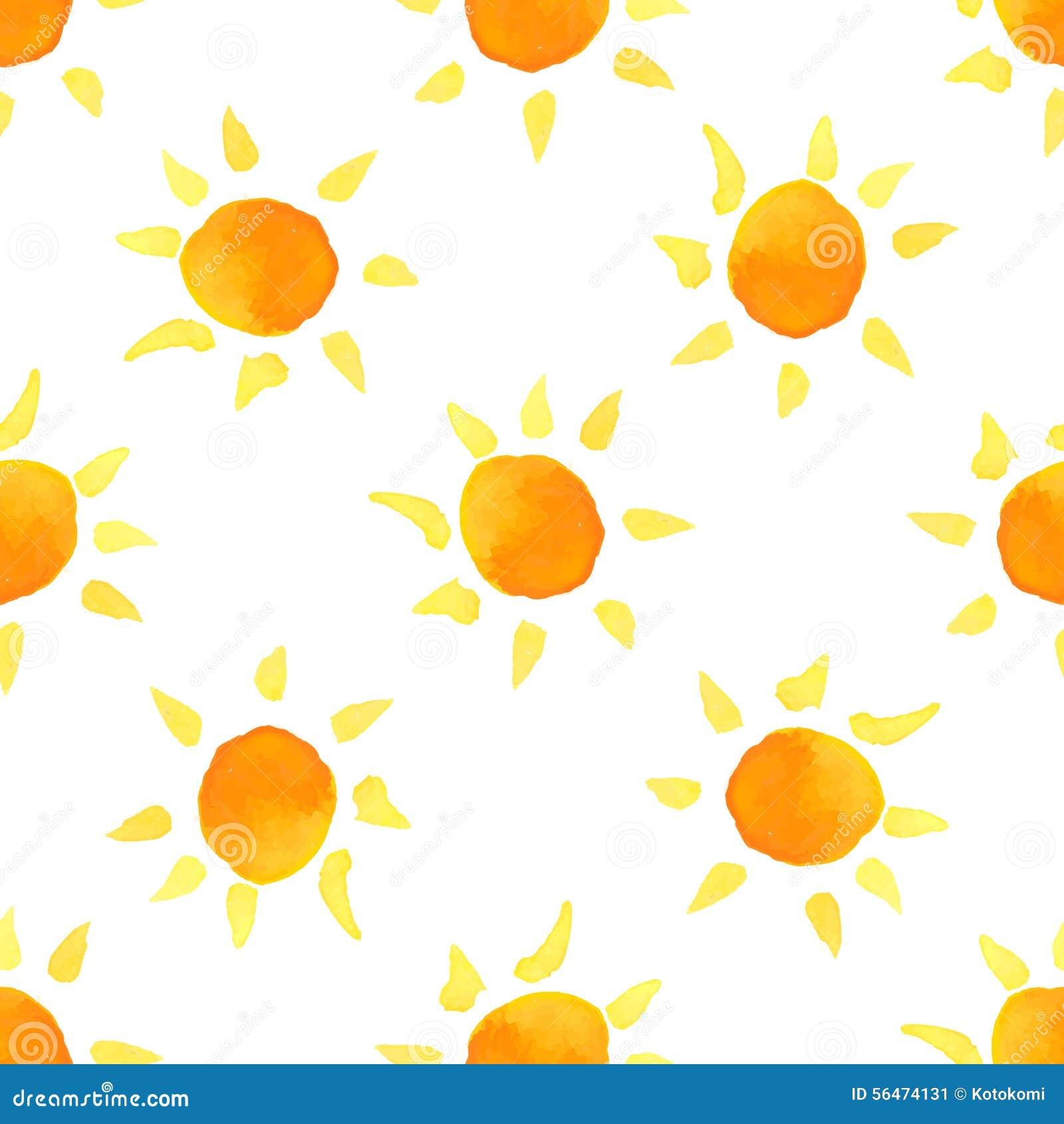watercolor sun vector seamless pattern stock vector clip art sun rays clip art sunrise