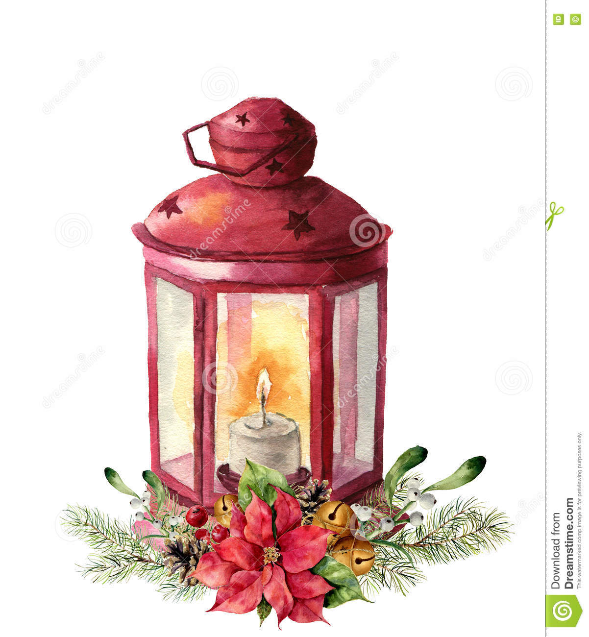 Chinese Red Candle Painting