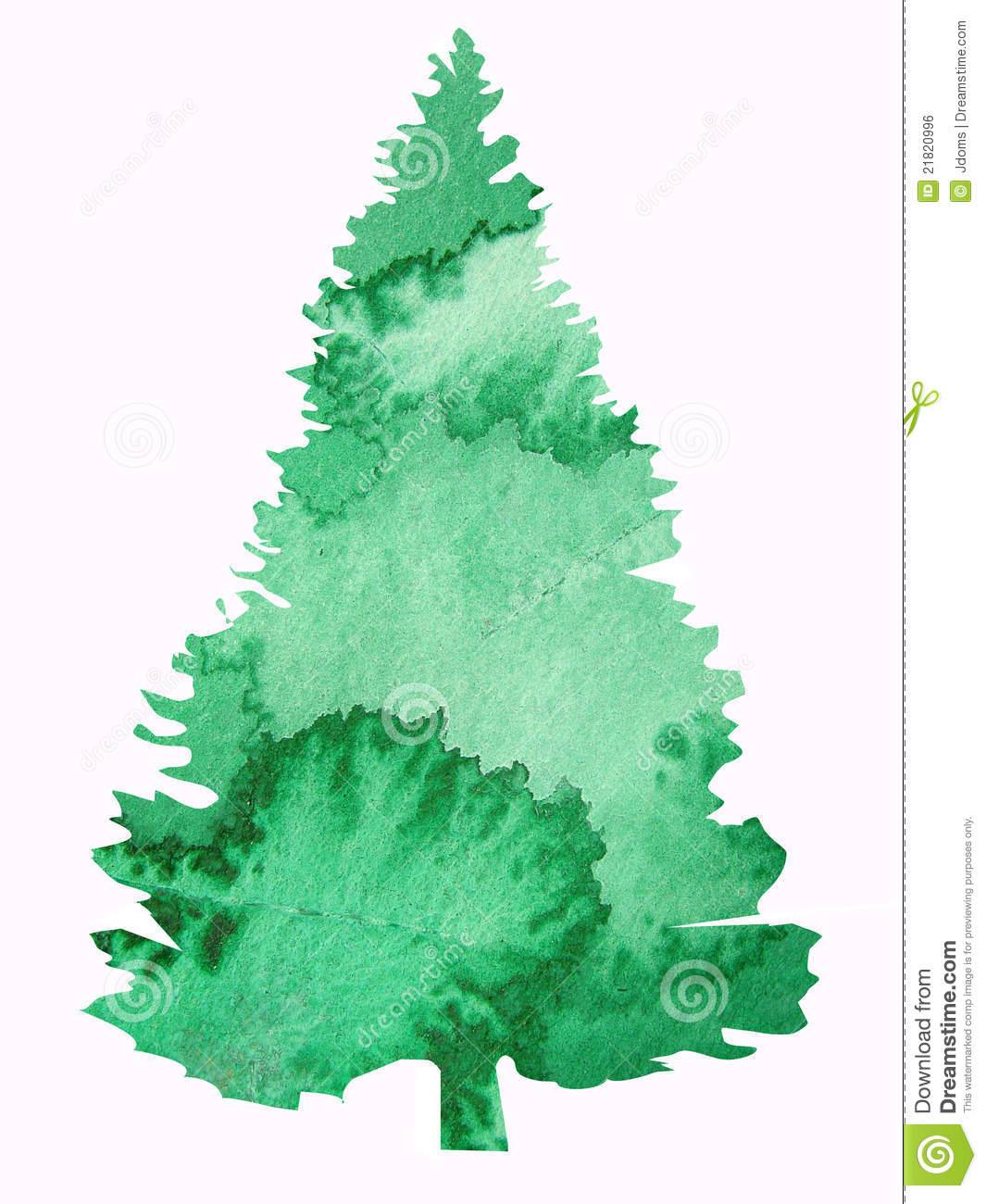 Watercolor Tree Design Royalty Free Stock Image - Image: 21820996