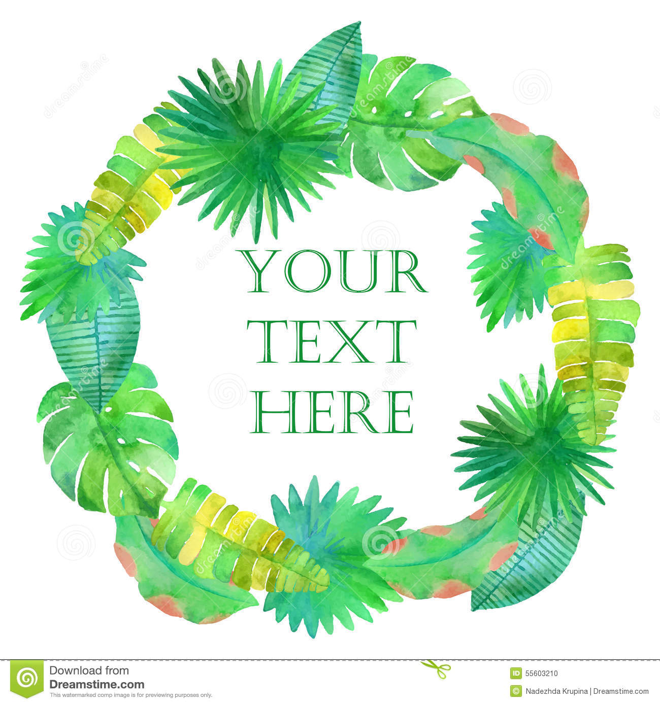 Watercolor Tropical Leaves Circle Frame Illustration 55603210 Megapixl The best selection of royalty free tropical frame round vector art, graphics and stock illustrations. watercolor tropical leaves circle frame illustration 55603210 megapixl