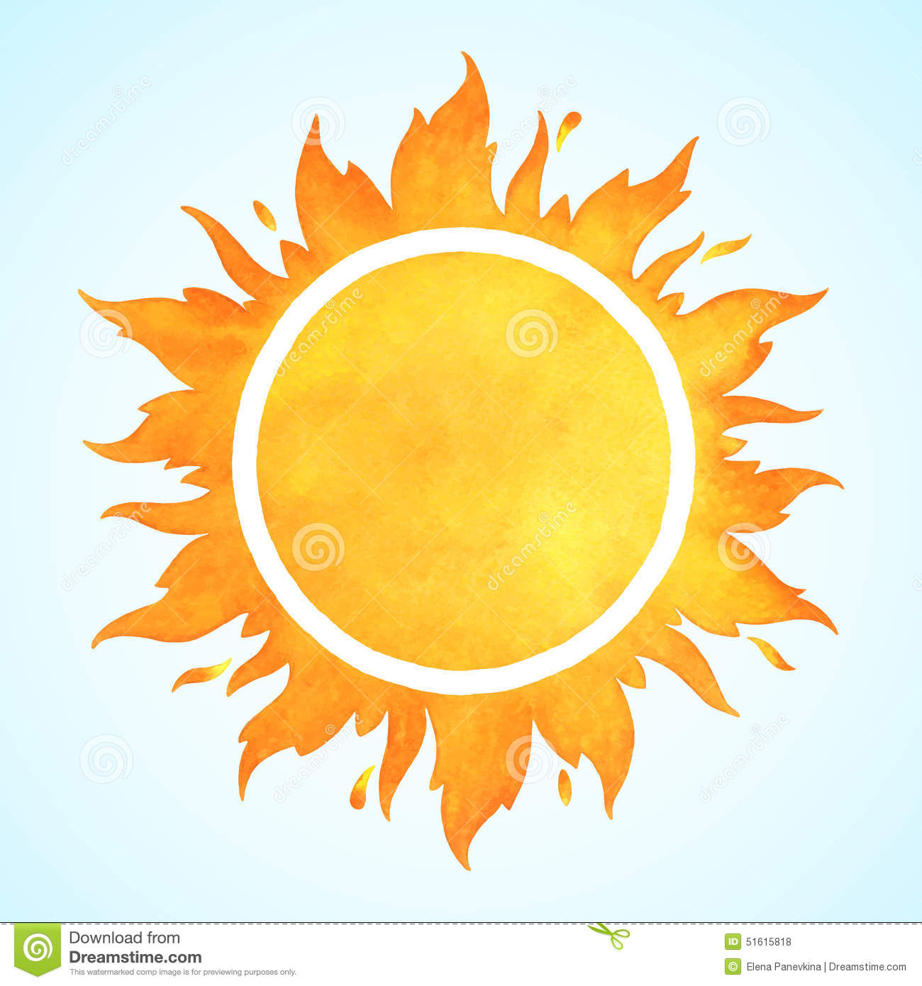 watercolor vector sun with crown stock vector image 51615818 Red Fox Graphics red fox clipart free