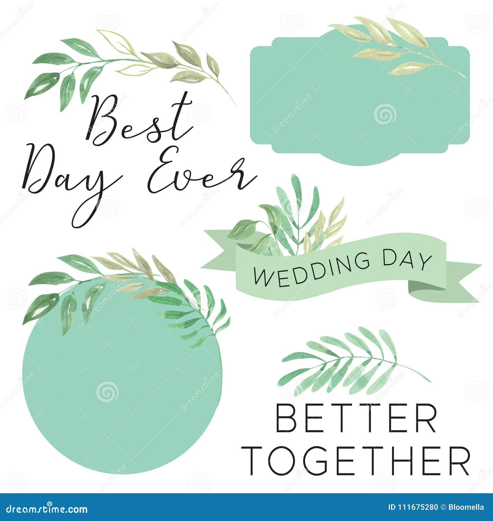 Wedding Banner Clipart Watercolor Wedd...