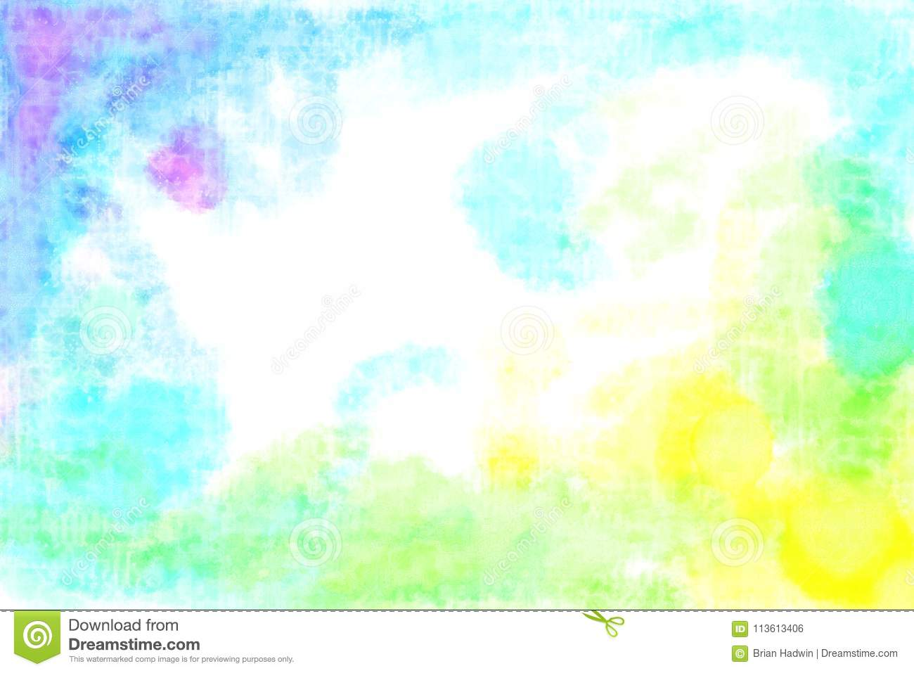 Cool Tone Spectrum Watercolour Texture Background Stock Illustration