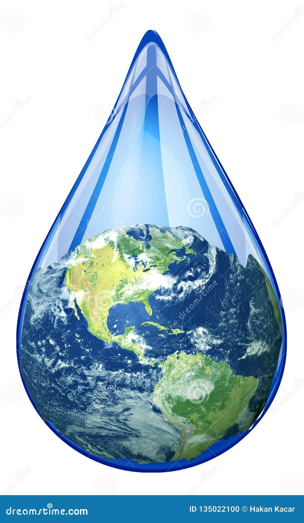 Waterdaling in de wereld, sparen de wereld