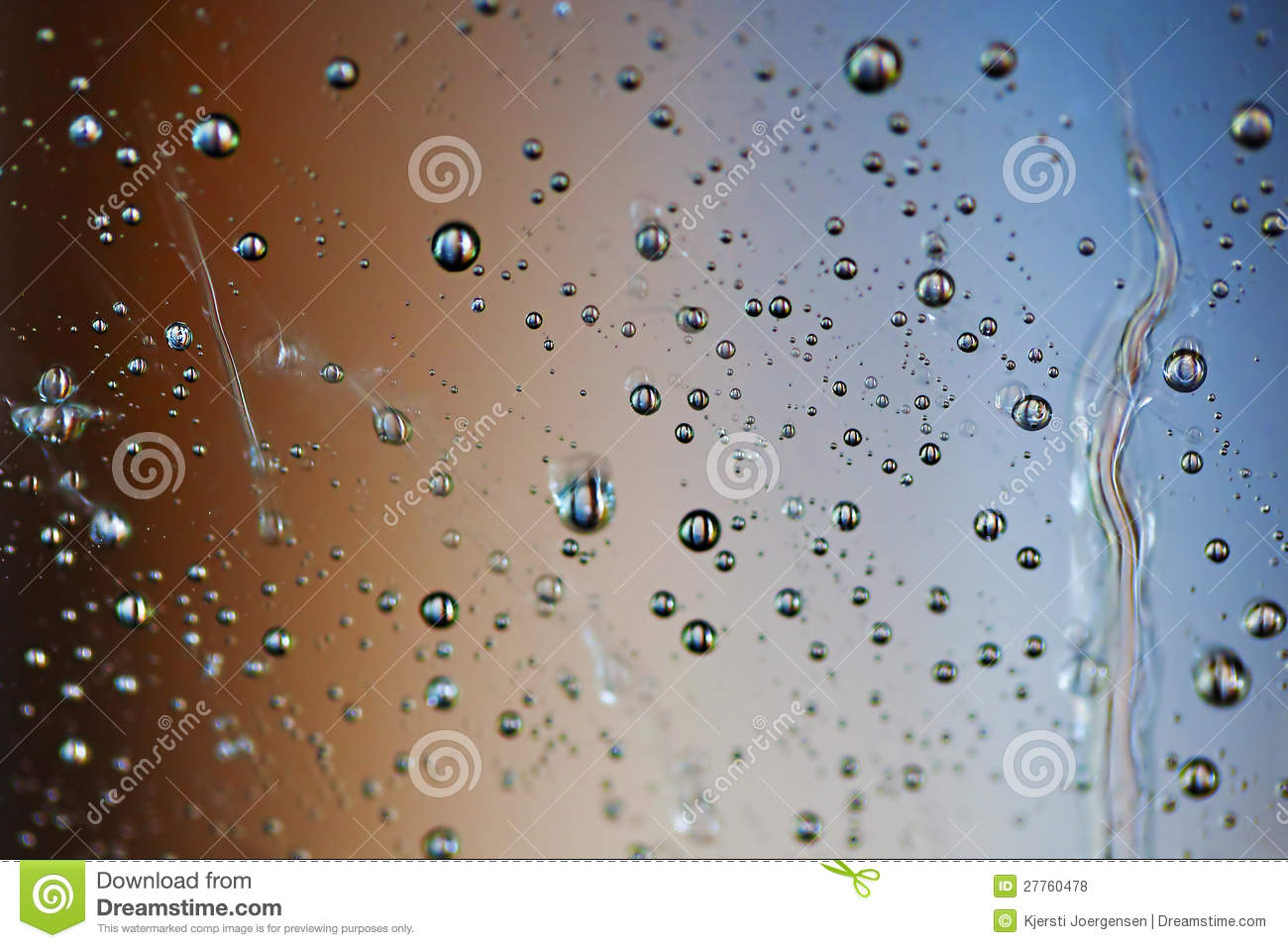 Waterdroplets et couleurs