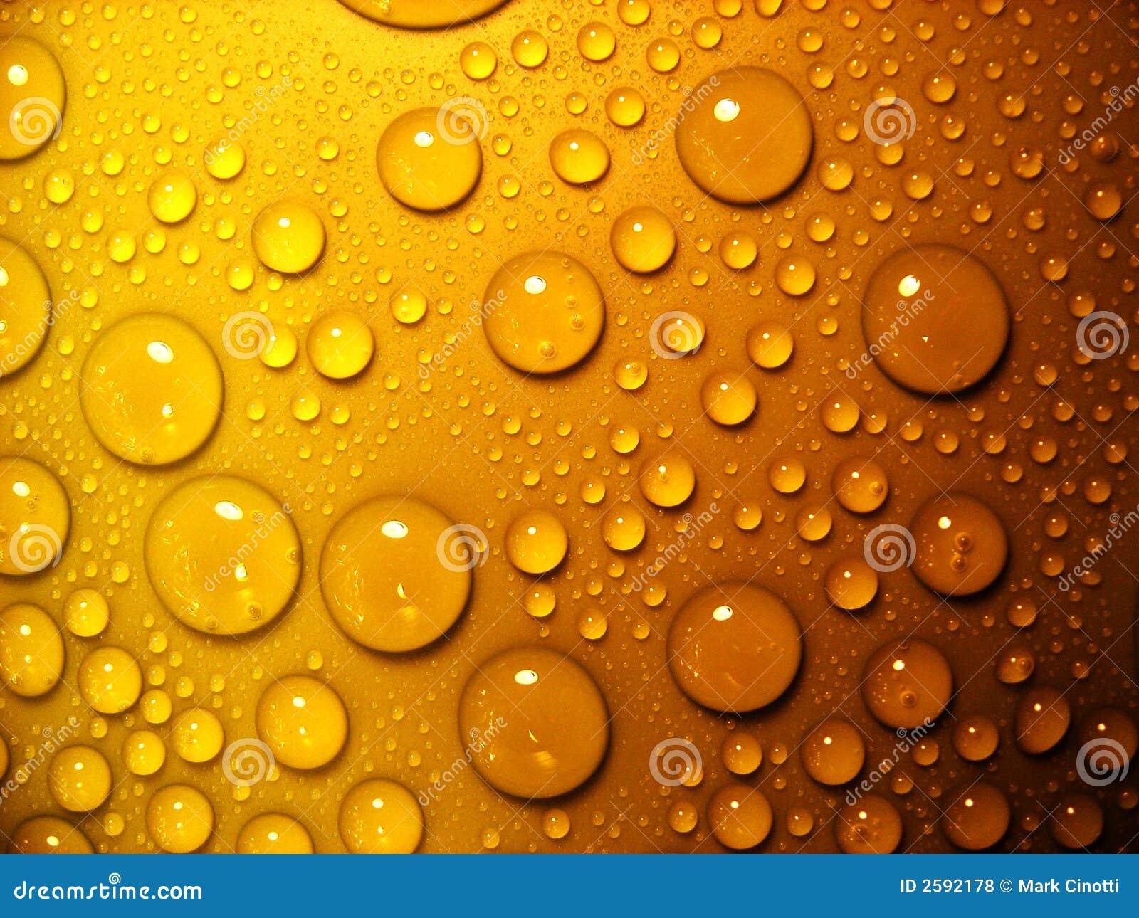 Waterdrops op sinaasappel