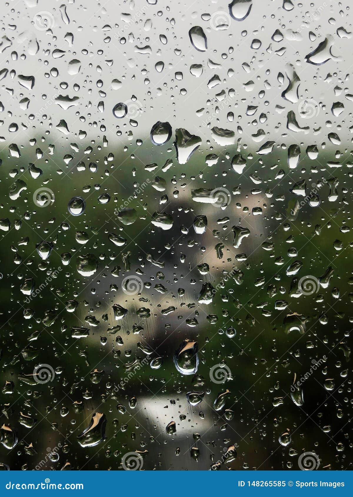 Waterdrops on a window.