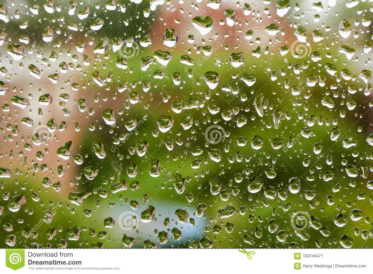 Waterdrops on a window