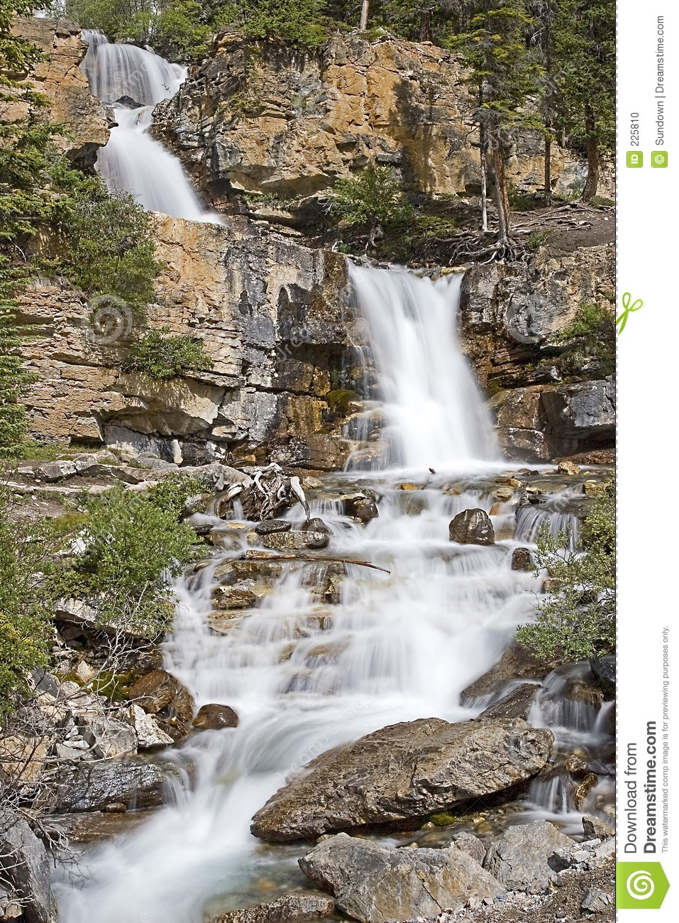 Download Waterfall stock photo. Image of mountain, flowing, cool - 225810