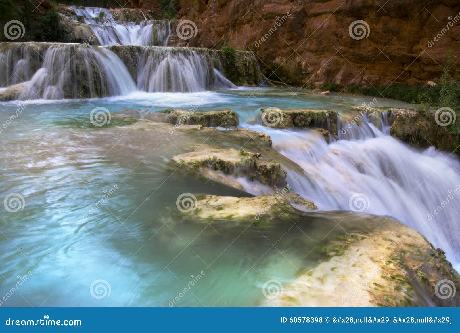 Waterfall along Havasu Creek