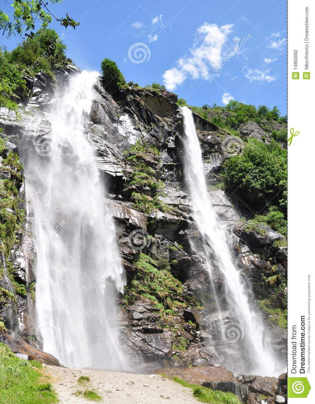 Waterfall in the alps