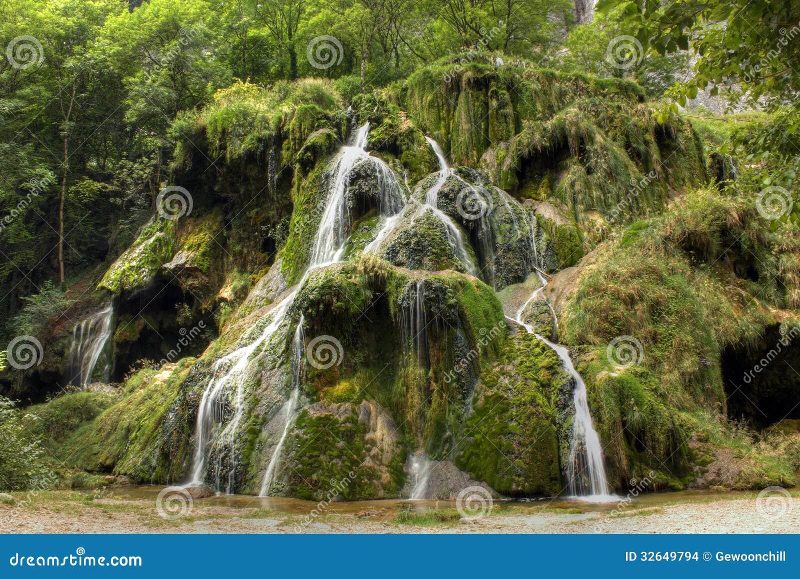 Waterfall at Baume les Messieurs, Jura - France