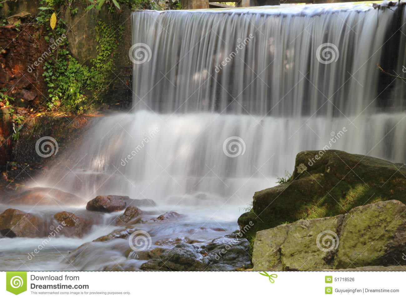 Waterfall stock photo image of environment garden for Waterfall environment