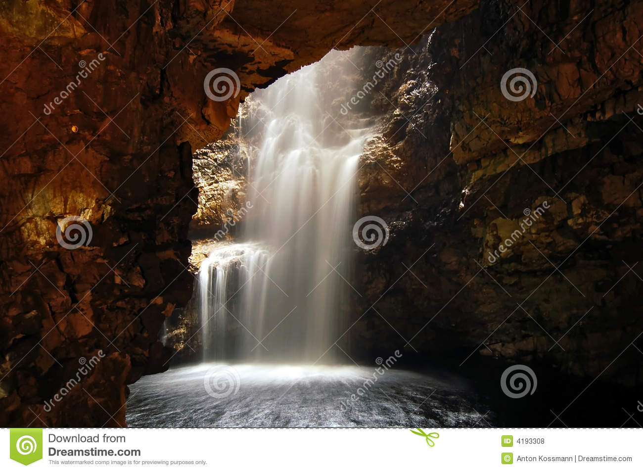 Waterfall in a Cave