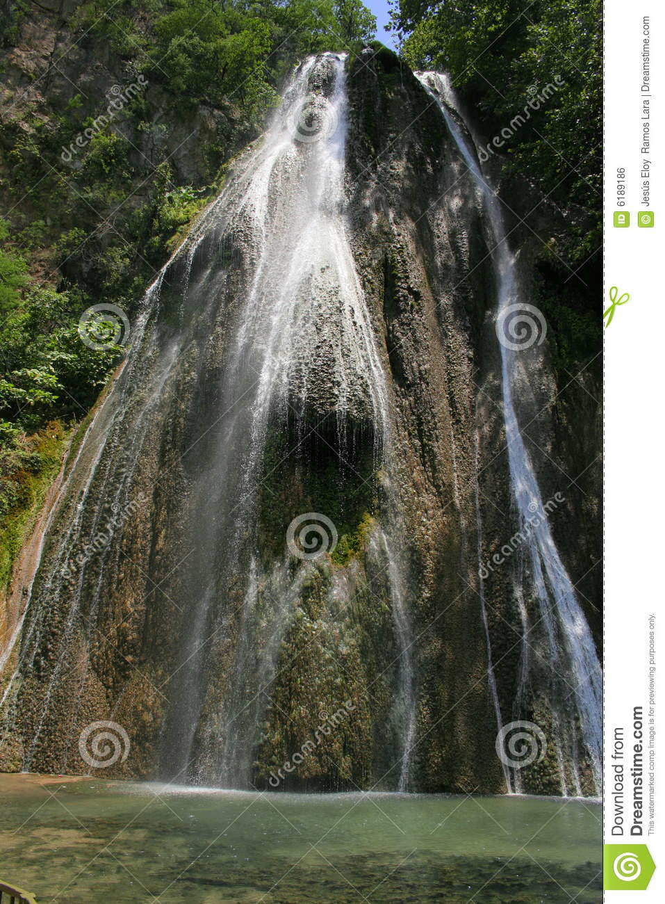 Download Waterfall cola de caballo stock photo. Image of mexico - 6189186