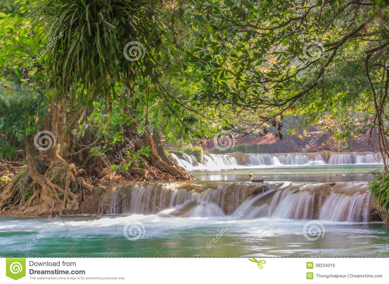 Saraburi Thailand  city pictures gallery : Waterfall in deep forest at saraburi Thailand.