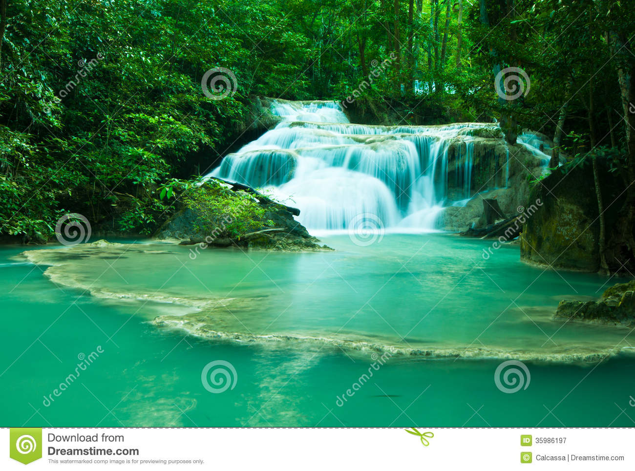 Erawan national park royalty free stock photography image 35986197