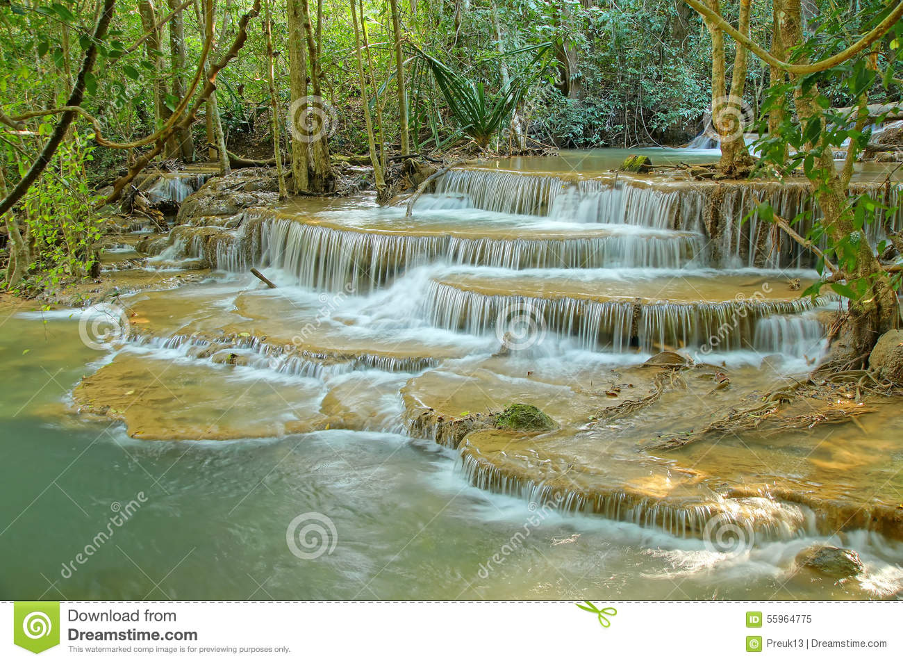 Waterfall 11 Stock Photo - Image: 55964775