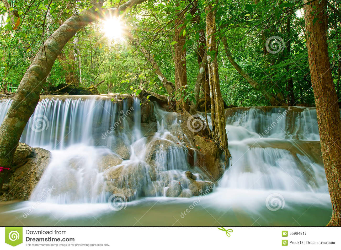Waterfall14 Stock Photo - Image: 55964817