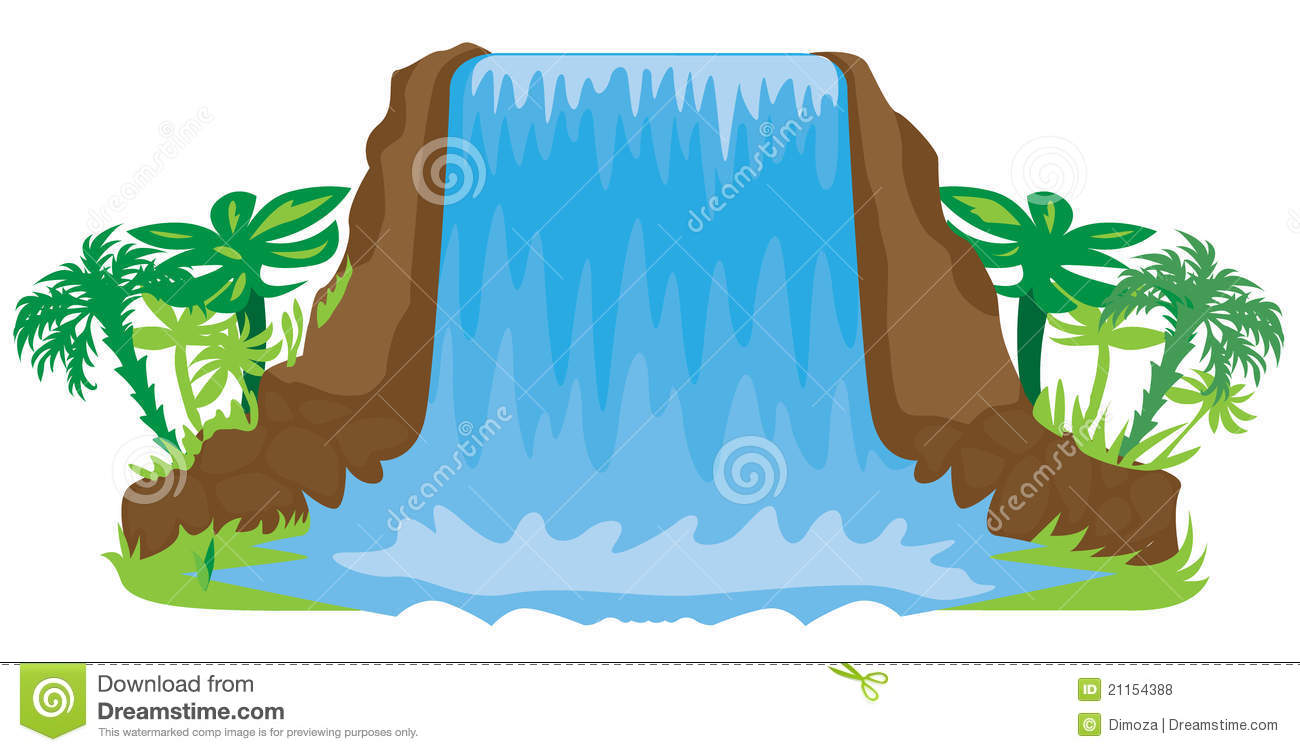 waterfall illustration royalty free stock photos image Paint Clip Art Painter Silhouette Clip Art