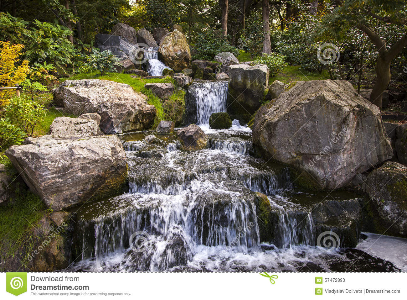 Royalty-Free Stock Photo. Download Waterfall In Japanese ...