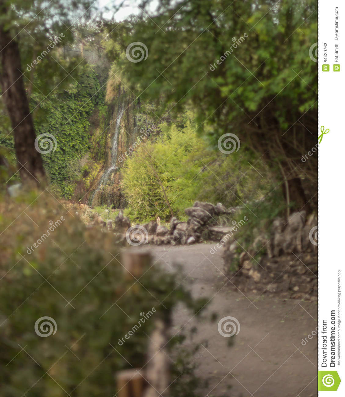 Waterfall At Japanese Garden Stock Photo - Image of limestone ...