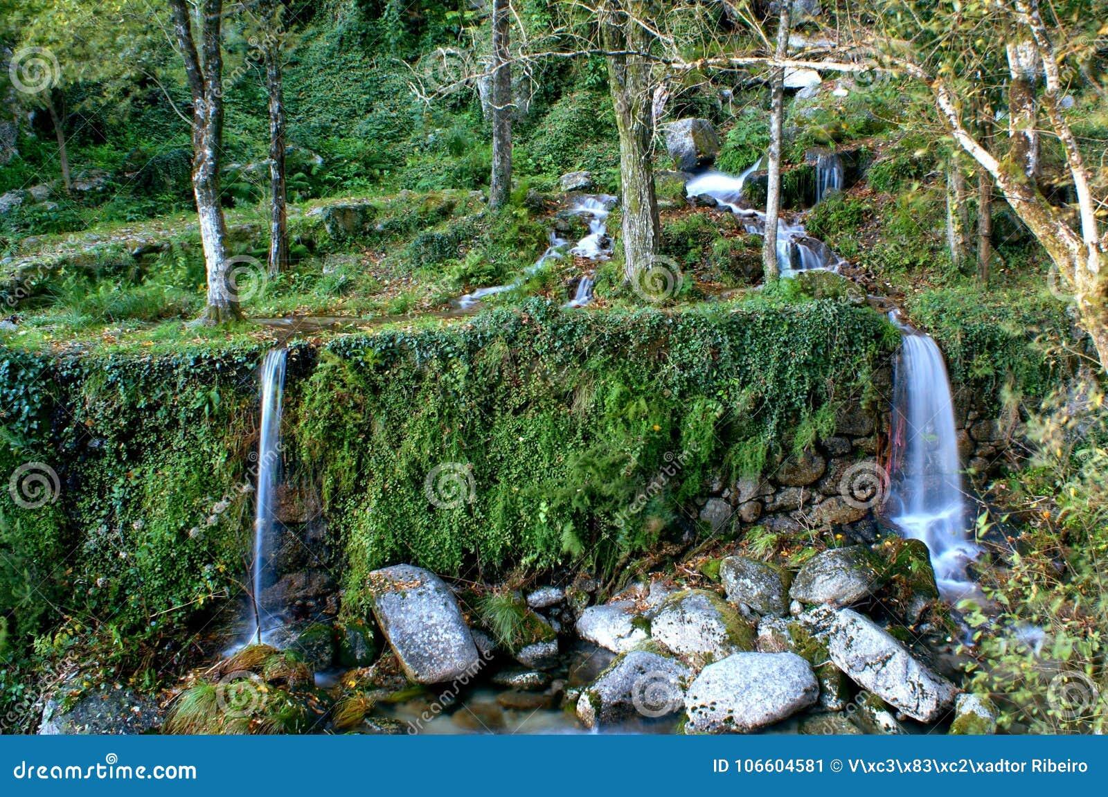 Waterfall in National Park of Peneda Geres