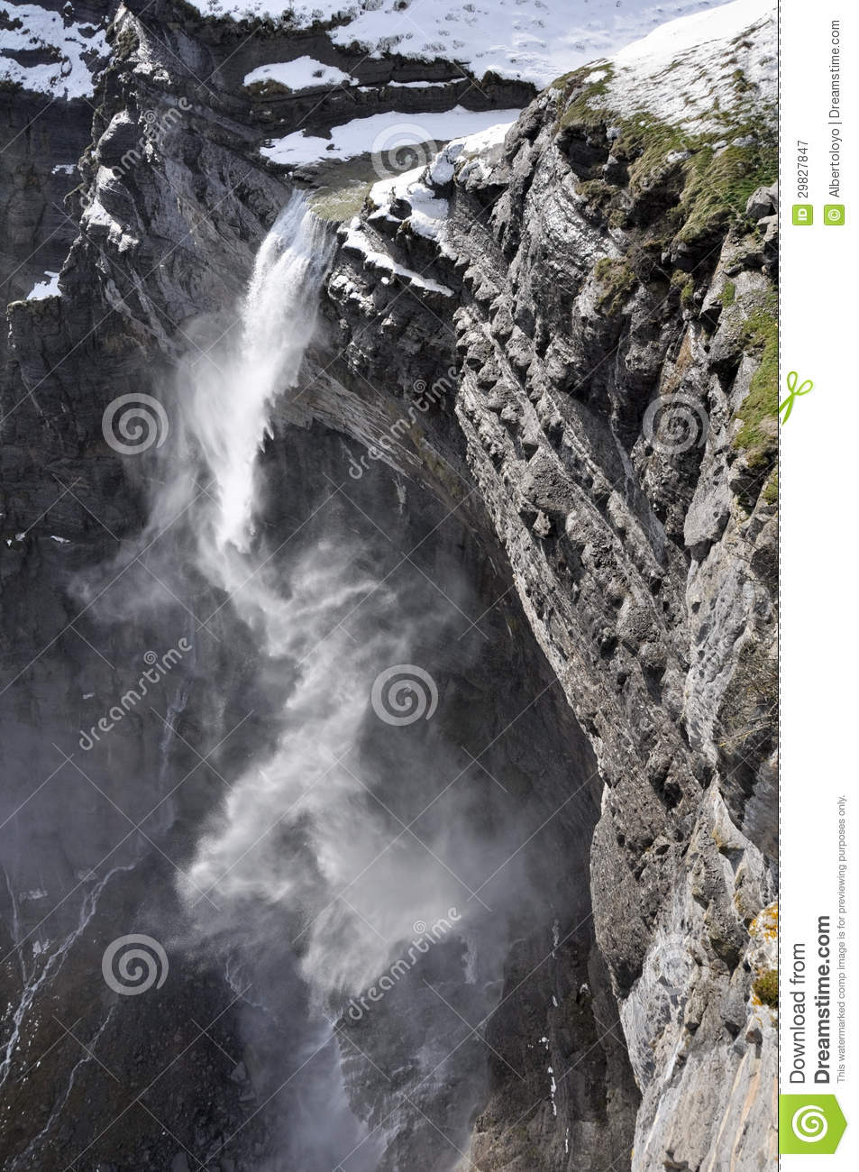 Waterfall In The Nervion River Source, Spain Royalty Free ...