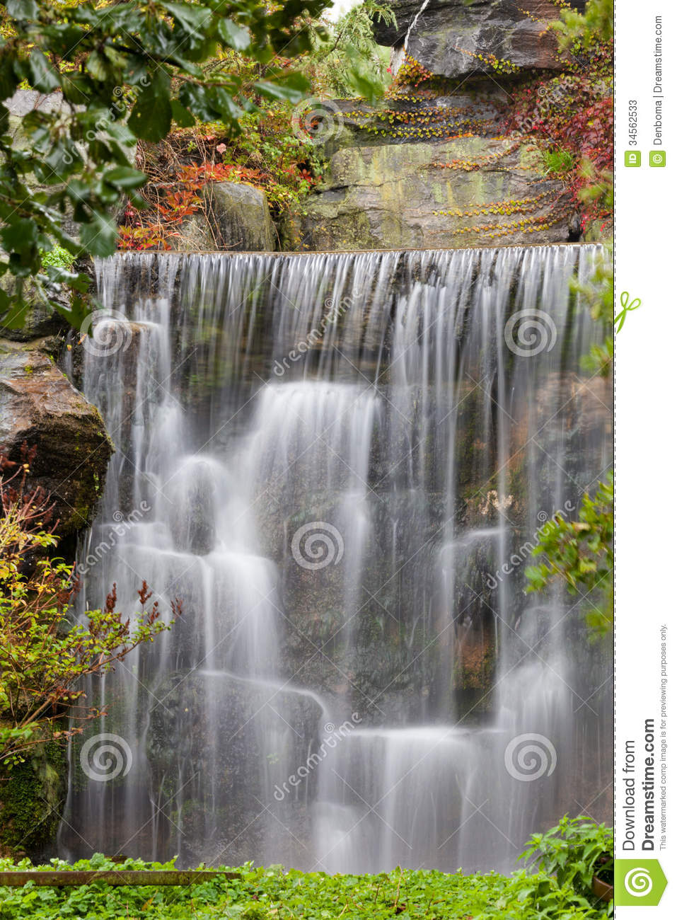 Waterfall Stock Image Image Of Plants Natural