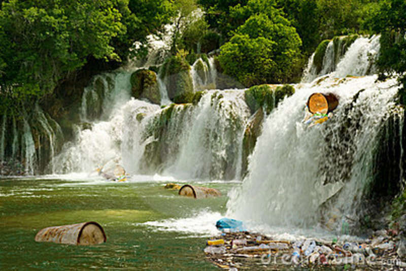 Waterfall Pollution Stock Images Image 11878364